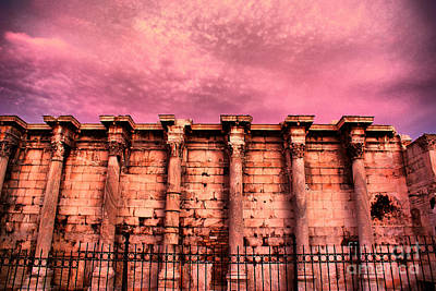 Library Digital Art - Athens - The Library Of Hadrian by Hristo Hristov