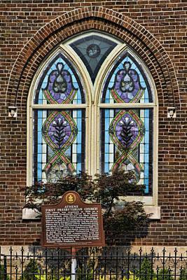 Athens Alabama First Presbyterian Church Stained Glass Window Art Print by Kathy Clark