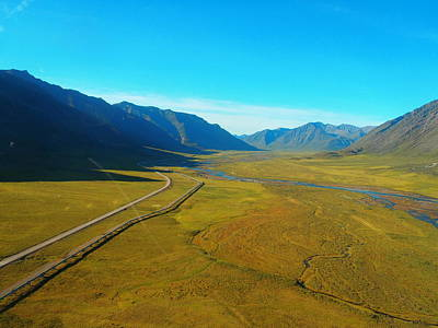 Photograph - Atigun Valley Aerial by Adam Owen