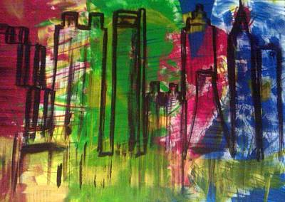 Atlanta City Painting - Atlanta by Ari Meier
