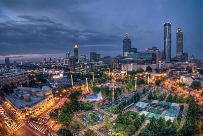 4th July Digital Art - Atlanta Centenial Park by Anna Rumiantseva