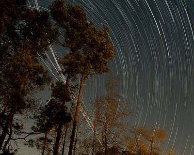 Art Print featuring the photograph Atlanta Star Trails by Ray Devlin