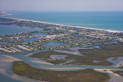 Beaufort Photograph - Atlantic Beach Beaufort Aerial by Betsy Knapp