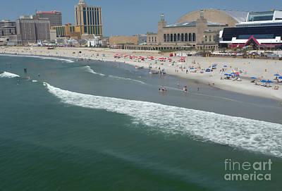 Photograph - Atlantic City Beach Poster by Margie Avellino