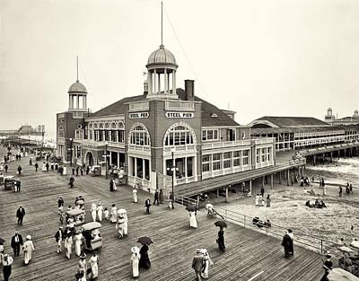 Pier Digital Art - Atlantic City Steel Pier 1910 by Bill Cannon