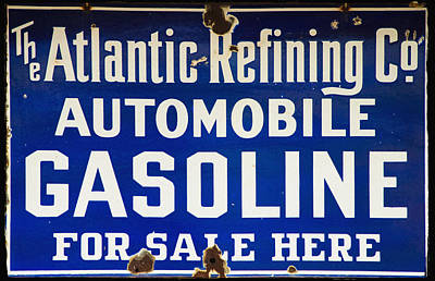 Atlantic Refining Co Sign Art Print by Bill Cannon