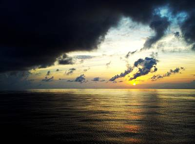 Photograph - Atlantic Sunset by Van Corey