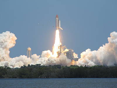 Photograph - Atlantis Launch by Keith Stokes