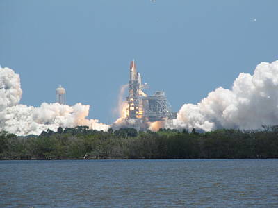 Photograph - Atlantis Lift Off by Keith Stokes