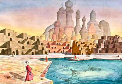 Atlantis Painting - Atlantis Retrospect by Frank SantAgata