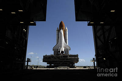 Atlantis Rolls Toward The Open Doors Art Print by Stocktrek Images