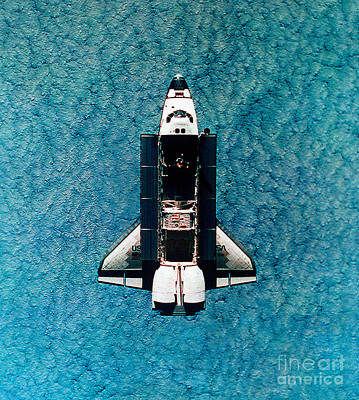 Atlantis Space Shuttle Art Print by Science Source