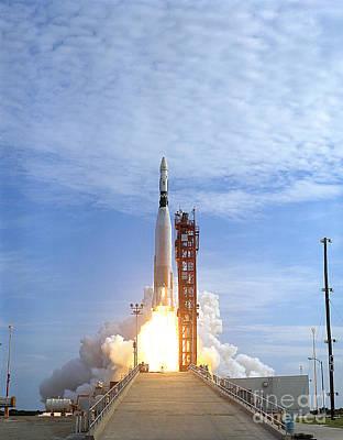 Atlas Agena Target Vehicle Liftoff Print by Stocktrek Images