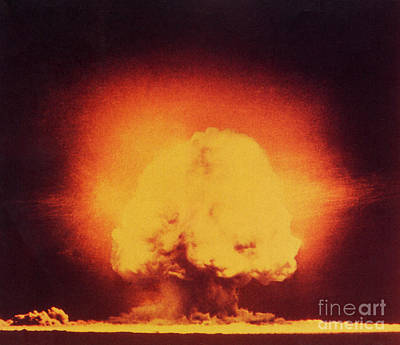 Photograph - Atomic Bomb Explosion by Science Source