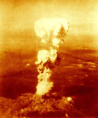 Atomic Burst Over Hiroshima, 1945 Art Print by Us National Archives And Records Administration