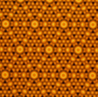 Atomic Surface Of A Silicon Crystal Art Print by Northwestern University