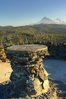 Mckenzie Pass Photograph - Atop Dee Wright Observatory by Chris Anderson