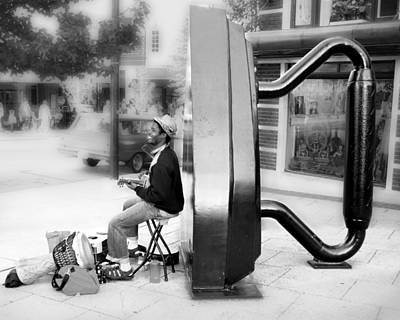 Photograph - Atown Street Musician by Gray  Artus