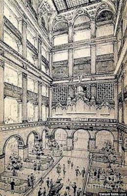 Philadelphia Pa Painting - Atrium In John Wanamakers Store In Philadelphia Pa In 1909 by Dwight Goss