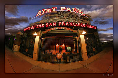 Photograph - Att Park Front Gate by Blake Richards