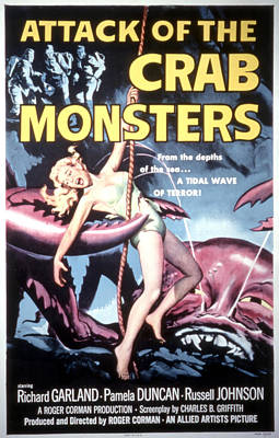 Attack Of The Crab Monsters, Poster Art Print by Everett