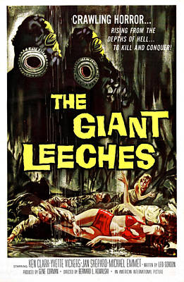 Attack Of The Giant Leeches Aka The Art Print by Everett
