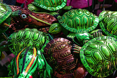 Photograph - Attack Of The Turtles And Frogs by Gordon Dean II