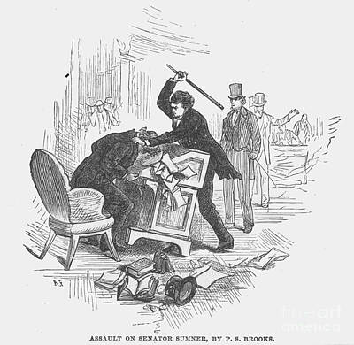 Abolition Photograph - Attack On Sumner, 1856 by Granger