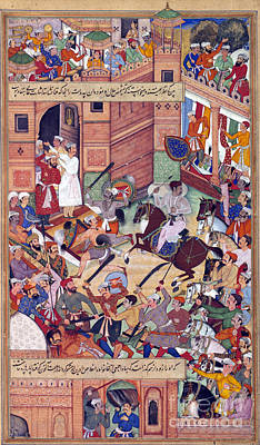 Photograph - Attempt On The Life Of Akbar The Great by Photo Researchers