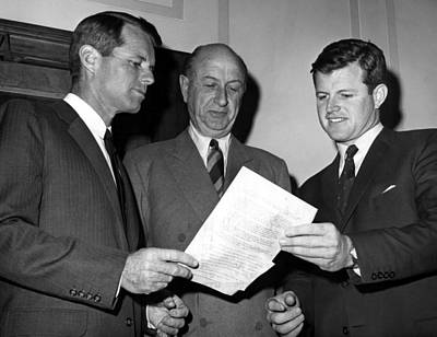 Ted Kennedy Photograph - Attorney General Robert Kennedy L by Everett