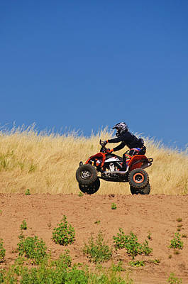 Art Print featuring the photograph Atv Action by Sherri Meyer