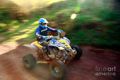 Atv Off-road Racing Art Print by Gaspar Avila