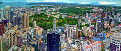 Photograph - Auckland Central Business District Panorama by Harry Strharsky