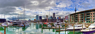 Photograph - Auckland Harbor Panorama by Harry Strharsky