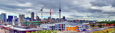 Photograph - Auckland Skyline Panorama by Harry Strharsky