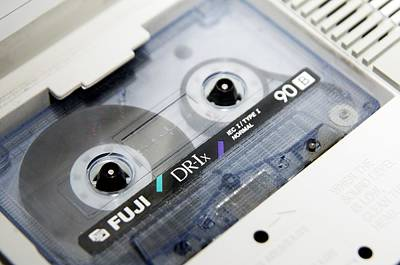 Audio Cassette Tape Art Print by Johnny Greig