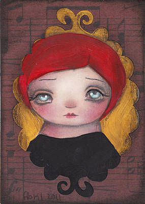 Big Eyed Girl Painting - Audrey by  Abril Andrade Griffith