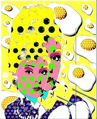 Audrey Art Print by Ricky Sencion
