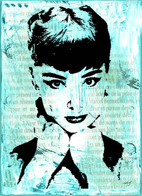 Digital Art - Audrey by Ruby Cross