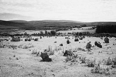 Megalith Photograph - Aughlish Stone Circles County Derry Londonderry Northern Ireland by Joe Fox
