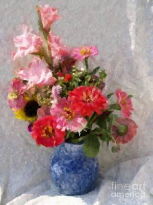 August Bouquet Art Print