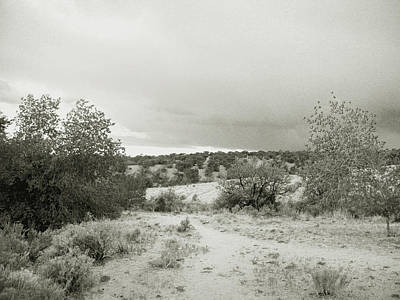 Photograph - August Desert II - Black And White by Kathleen Grace
