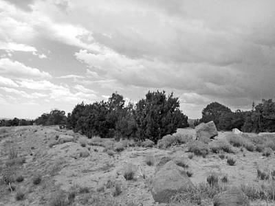 Photograph - August Desertscape -black And White by Kathleen Grace