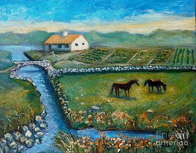August Evening In Connemara Art Print by Rita Brown
