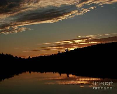 August Lake Sunset Print by Donna Cavanaugh