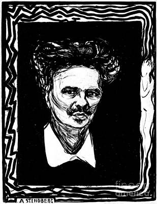 Edward Munch Photograph - August Strindberg by Granger