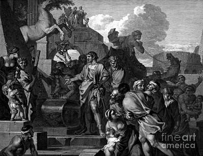 Augustus Before The Tomb Of Alexander Print by Photo Researchers