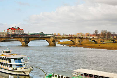 Photograph - Augustus Bridge Dresden Germany by Christine Till