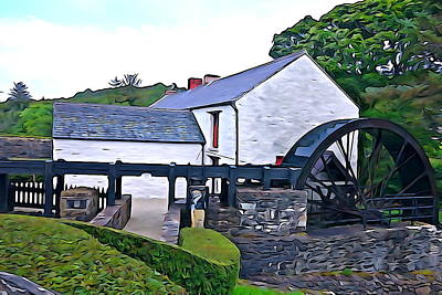 Art Print featuring the photograph Auld Mill  by Charlie and Norma Brock