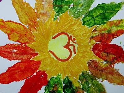 The Universe Painting - Aumkar Mandala by Sonali Gangane